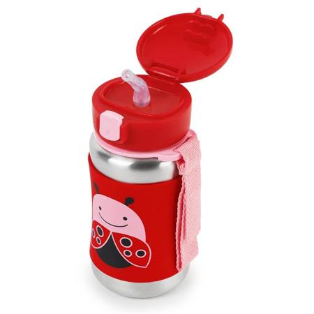 Slika Skip Hop® Steklenička iz nerjavečega jekla s slamico Pikapolonica