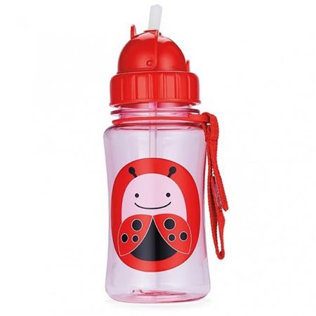 Slika Skip Hop® Steklenička s slamico Pikapolonica