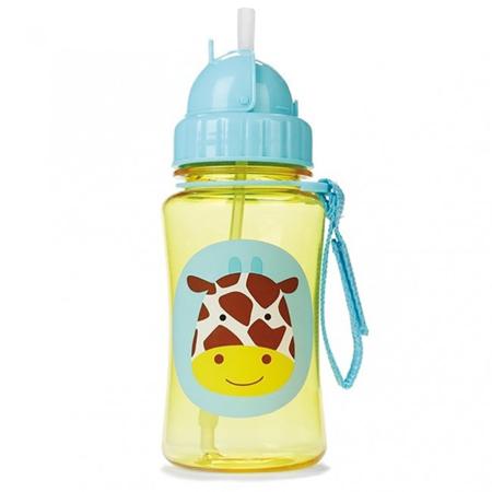 Slika Skip Hop® Steklenička s slamico Žirafa