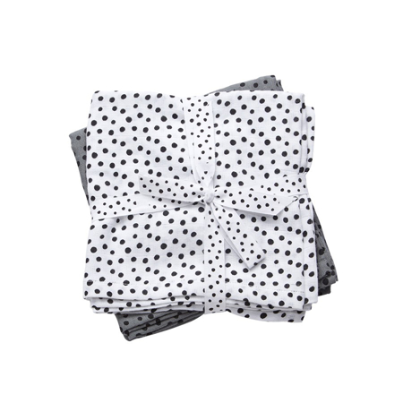 Picture of Done by Deer®  Burps Cloth 2-Pack Happy Dots