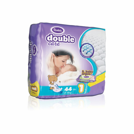 Picture of Violeta® Double Care Aircare 1 (2-5 kg) 44 Pcs