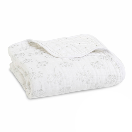 Picture of Aden+Anais Classic Dream Blanket - Metalic Silver Deco