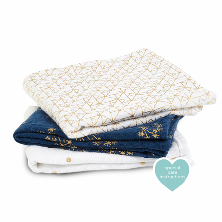 Picture of Aden+Anais Muslin Squares 3-Pack - Metalic Gold Deco