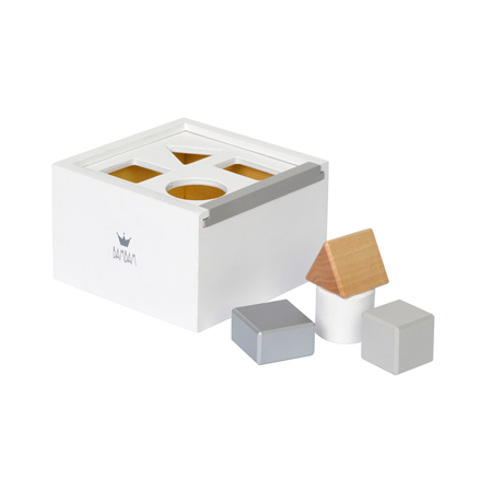 Picture of BamBam Wood Block Box - White