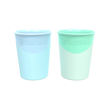 Slika Twistshake® 2x Kozarček Pastel Blue&Green 170ml (6+m)