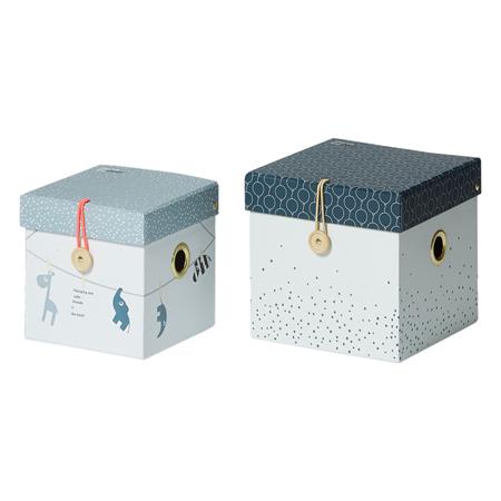 Slika Done by Deer® Set 2 škatlic za shranjevanje - Blue
