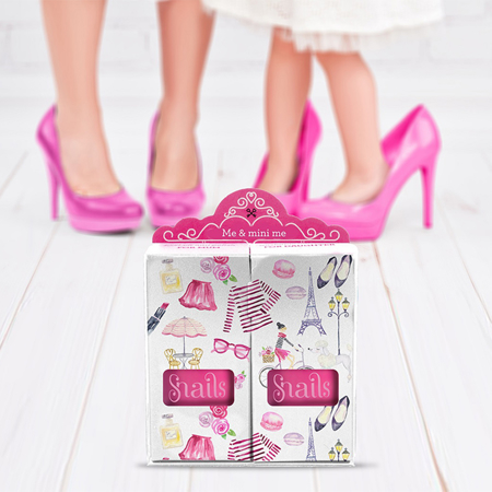 Slika Snails® komplet 2 lakov Me & Mini Me Pink