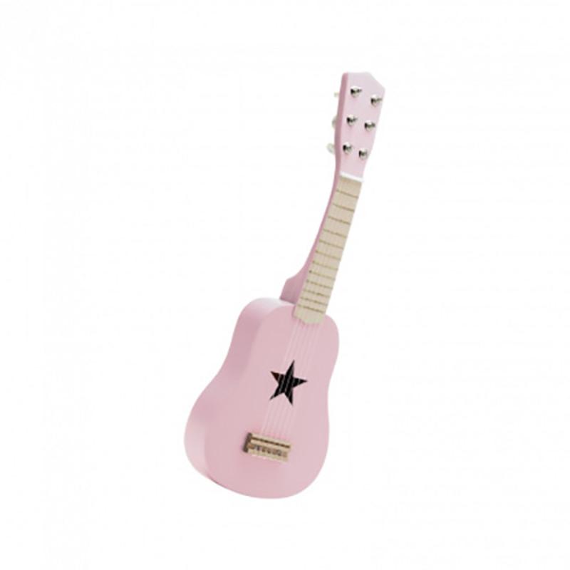 Kids Concept® Lesena kitara Pink