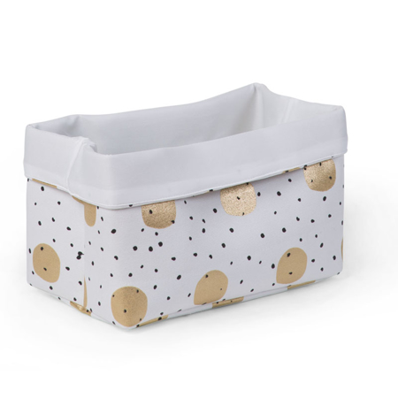 Picture of Childhome® Small Canvas Box White Gold Dots