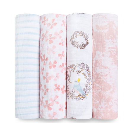 Picture of Aden+Anais Classic Swaddle Set 4-Pack - Birdsong