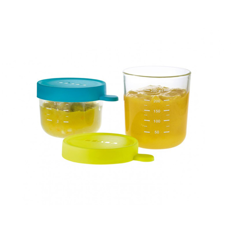 Slika Beaba® Set 2 steklenih posodic za shranjevanje 150ml in 250ml
