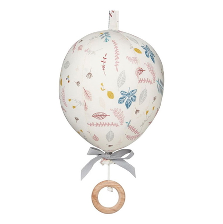 Slika CamCam® Glasbeni vrtiljak Balon Pressed Leaves Rose