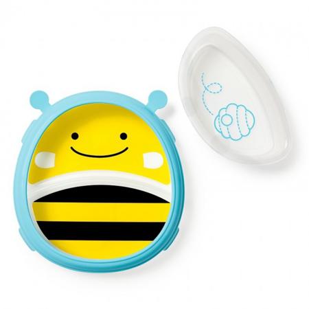 Slika Skip Hop® Otroški multifunkcijski krožnik Čebelica