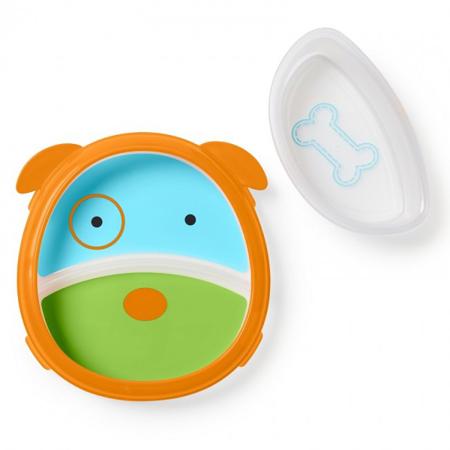 Slika Skip Hop® Otroški multifunkcijski krožnik Kuža