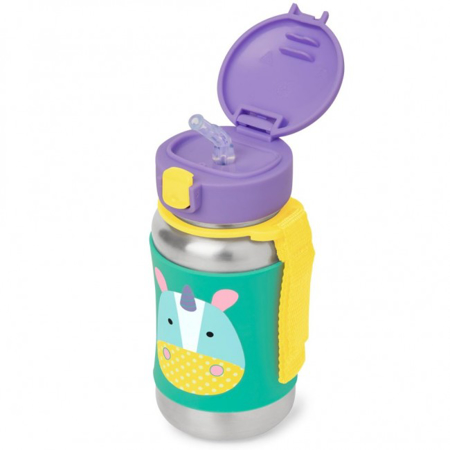 Picture of Skip Hop® Stainless Steel Kids Straw Bottle Rhino