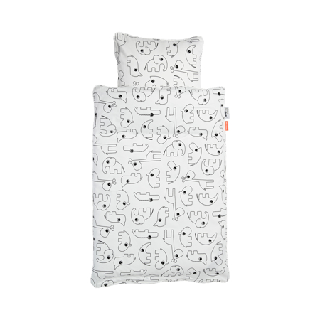 Picture of Done By Deer Contour Bedlinen - White; 70x100 cm