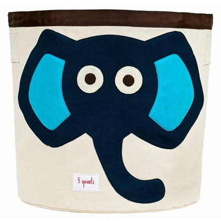 Picture of 3Sprouts® Storage Bin Blue Elephant