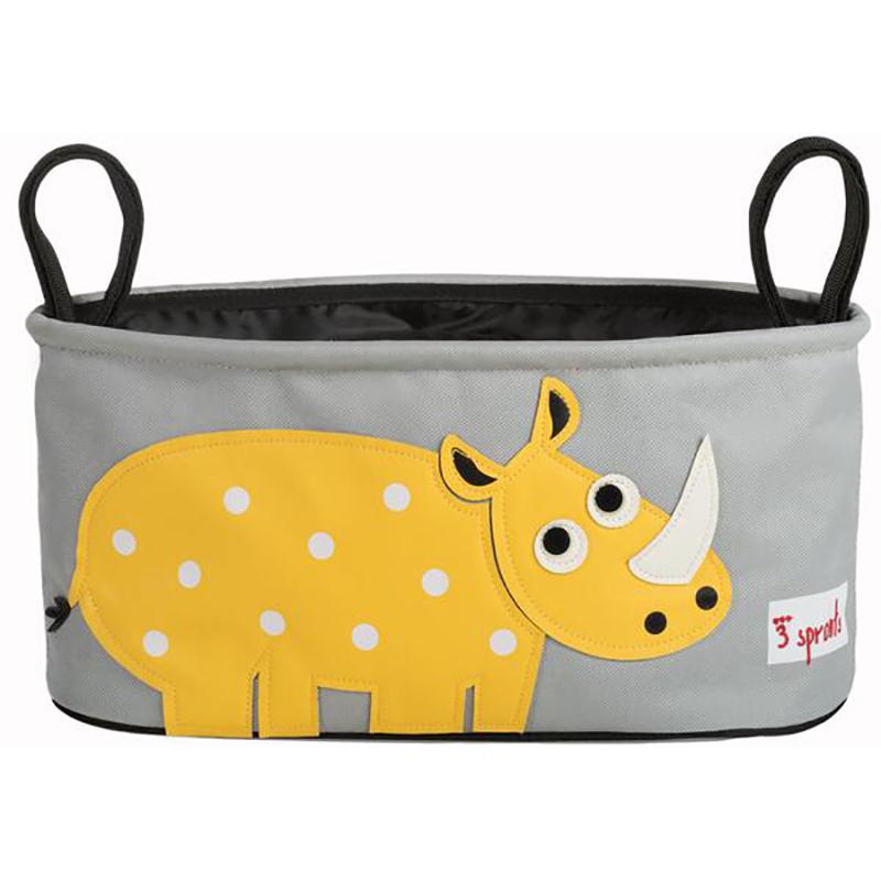 Immagine di 3Sprouts® Cestino porta oggetti per passeggino Rinoceronte