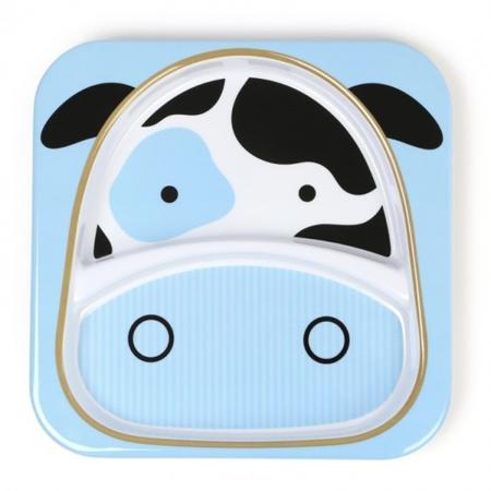 Slika Skip Hop® Otroški deljeni krožnik Kravica