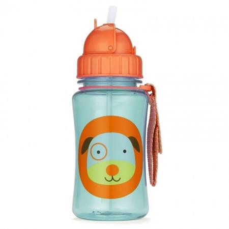 Slika Skip Hop® Steklenička s slamico Kuža