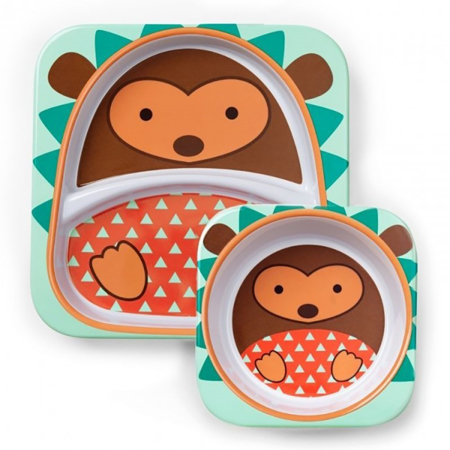Picture of Skip Hop® Melamine Plate&Bowl Set Hedgehog