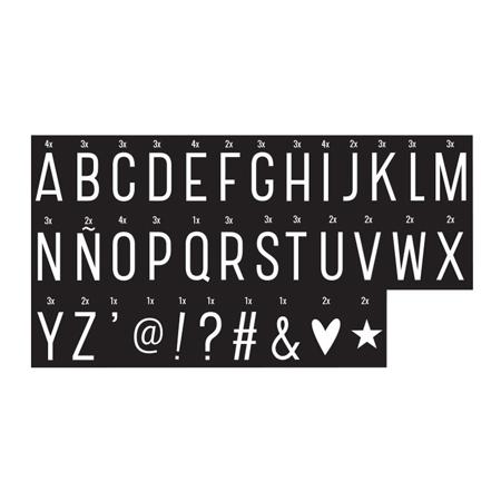 Slika A Little Lovely Company® Lightbox različni seti črk - Monochrome