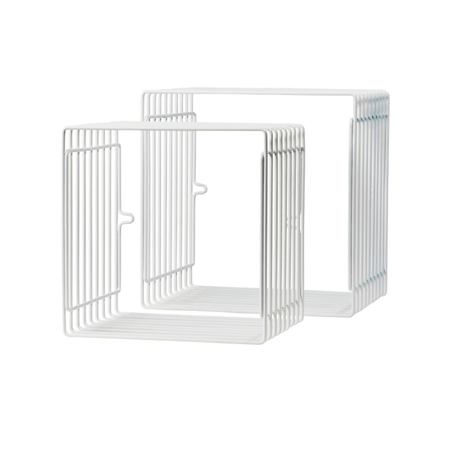 Picture of Done By Deer Wire Shelf Square 2-Pcs - White
