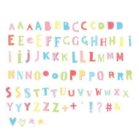 Slika A Little Lovely Company® Lightbox različni seti črk - Funky colour