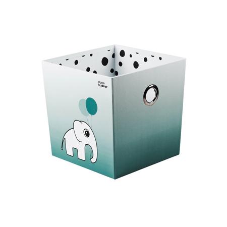 Slika Done by Deer® Škatla za shranjevanje Happy Dots - Svetlo Modra