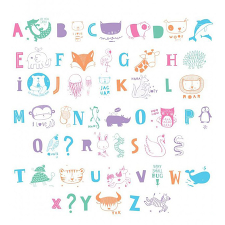 Slika A Little Lovely Company® Lightbox različni seti črk - ABC pastel
