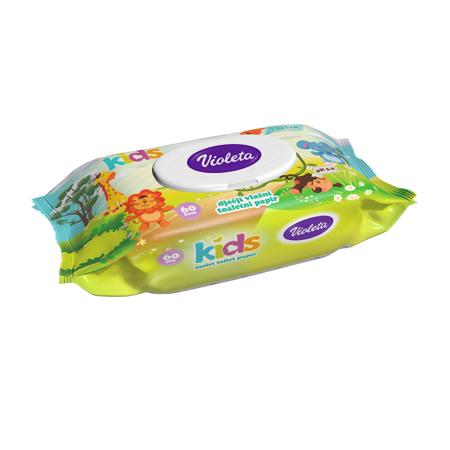 Slika Violeta® Kids Vlažni toaletni papir 60/1
