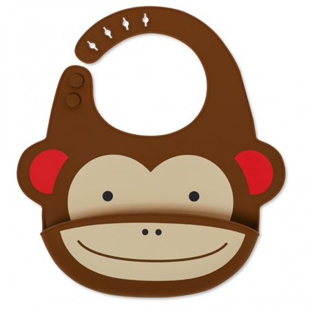 Slika Skip Hop® Silikonski slinček Opica