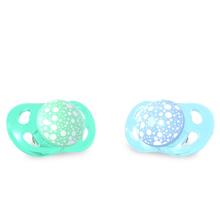 Picture of Twistshake 2x Pacifier Pastel Blue&green (0+/6+)