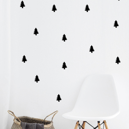 Picture of Pick Art Design® Wall Sticker Spruce Trees