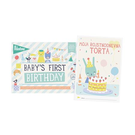 Slika Milestone® Knjižica za posebne priložnosti Prvi rojstni dan