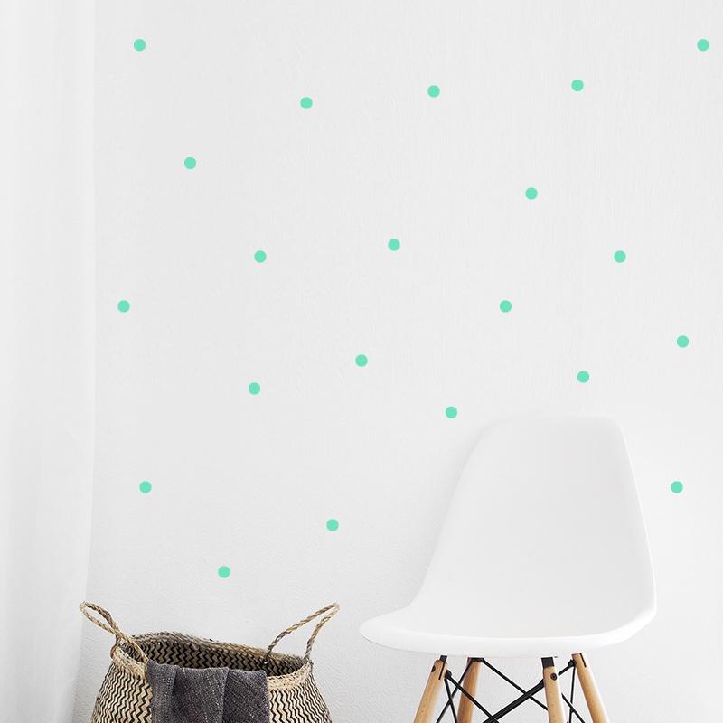 Pick Art Design® Stenske nalepke Krogci Mint