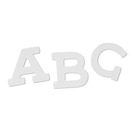 Slika BamBam® Lesene črke Bele