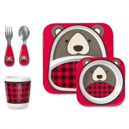 Slika Skip Hop® Zimski darilni set za hranjenje Medvedek