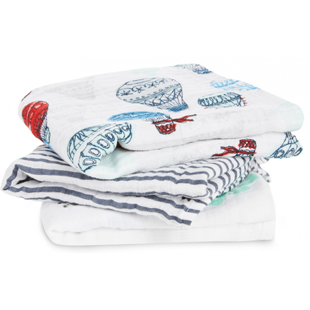 Picture of Aden+Anais Muslin Squares 3-Pack - Dream Ride