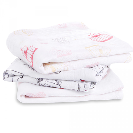 Picture of Aden+Anais Muslin Squares 3-Pack - Lovebird