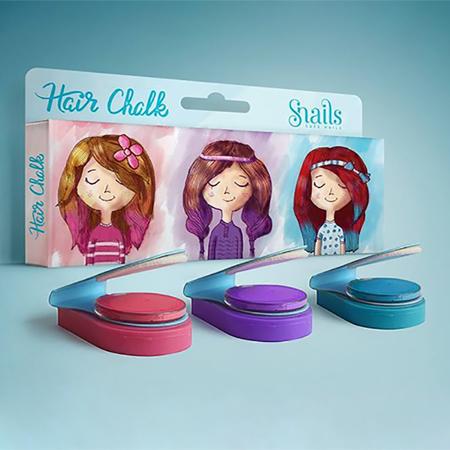 Slika Snails® Set 3 barvnih kred za lase