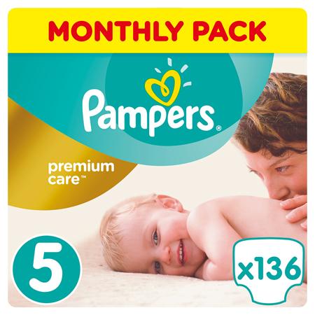 Slika Pampers® Pleničke Premium Care vel. 5 (11-16 kg) 136 kosov Mega Box