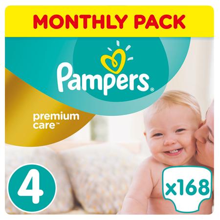 Slika Pampers® Pleničke Premium Care vel. 4 (9-14 kg) 168 kosov Mega Box