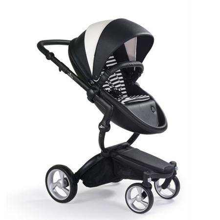 Slika Mima® Otroški voziček s košaro 2v1 Xari Black & White + Starter pack