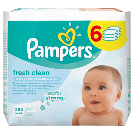 Immagine di Pampers® Salviettine umidificate Baby Fresh Clean promo pack 6x64 pz.