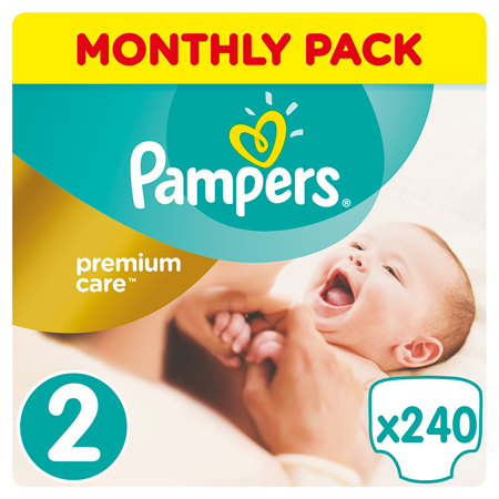 Slika Pampers® Pleničke Premium Care vel. 2 (4-8 kg) 240 kosov Mega Box