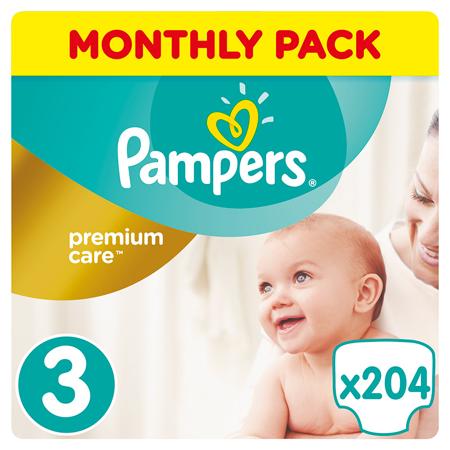 Slika Pampers® Pleničke Premium Care vel. 3 (6-10 kg) 204 kosov Mega Box