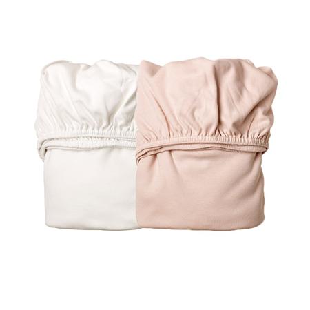 Slika Leander® Otroška jogi rjuha za zibelko 2 kosa 79x49 White/Pink
