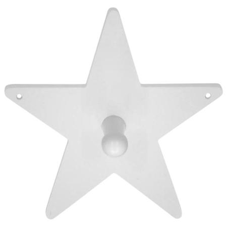 Slika Kids Concept® Leseni obešalnik Star White