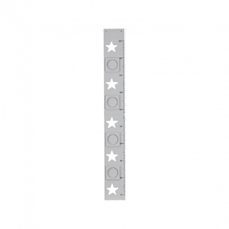 Slika Kids Concept® Meter za merjenje višine Star Grey